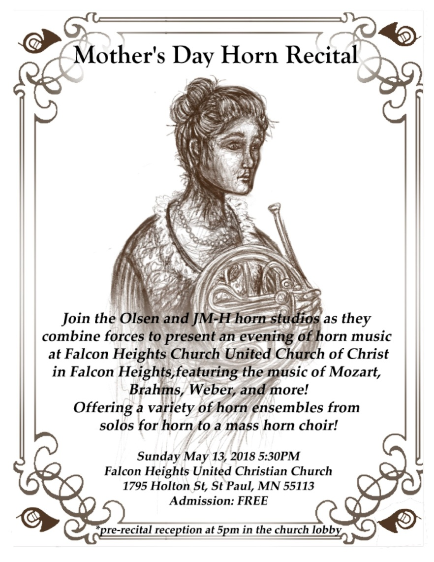 Mother's Day Horn Recital Poster copy